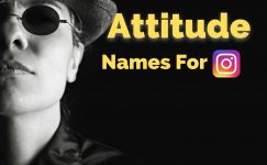 Attitude Names For Instagram For Boy